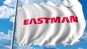 Bandera que agita con el logotipo de la compañía de Eastman Chemical Representación de Editoial 3D stock de ilustración
