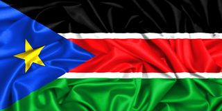 bandera que agita 3d de Sudán del sur libre illustration