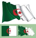 Bandera que agita de Argelia