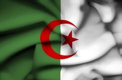 Bandera que agita de Argelia ilustración del vector