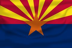 Bandera que agita de Arizona 10 EPS libre illustration