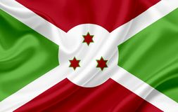 Bandera que agita de Burundi stock de ilustración