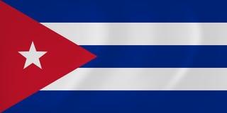 Bandera que agita de Cuba ilustración del vector