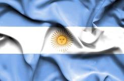 Bandera que agita de la Argentina ilustración del vector