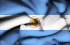 Bandera que agita de la Argentina libre illustration