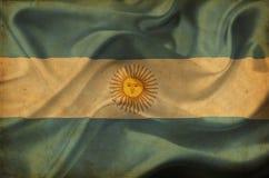 Bandera que agita de la Argentina stock de ilustración