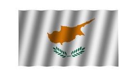 Bandera que agita de la república Chipre animaci?n cantidad Fondo stock de ilustración