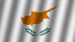 Bandera que agita de la república Chipre animaci?n cantidad Fondo ilustración del vector