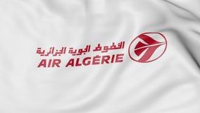 Bandera que agita de la representación editorial 3D de Air Algerie Fotos de archivo