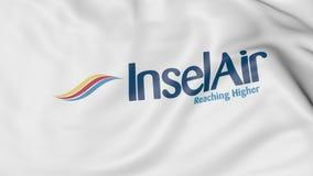 Bandera que agita de la representación editorial 3D de Insel Air Fotografía de archivo