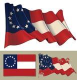 """Bandera que agita de los estados de América confederados 1861†""""1863 ilustración del vector"""