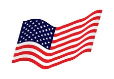Bandera que agita de los Estados Unidos de América ejemplo de la bandera americana ondulada para el Día de la Independencia Los E libre illustration