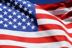 Bandera que agita de los Estados Unidos de América Imágenes de archivo libres de regalías