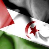 Bandera que agita de Western Sahara stock de ilustración