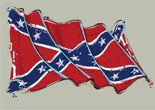 Bandera que agita del movimiento artístico rebelde del cepillo ilustración del vector