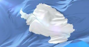 Bandera que agita en lento, lazo de la Antártida