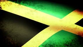Bandera que agita, mirada de Jamaica del grunge ilustración del vector