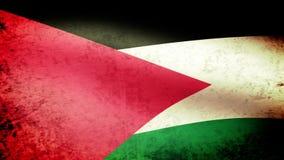 Bandera que agita, mirada de Palestina del grunge stock de ilustración