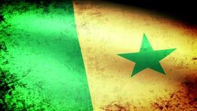 Bandera que agita, mirada de Senegal del grunge stock de ilustración