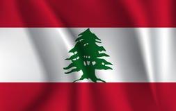 Bandera que agita realista de Líbano libre illustration