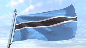 Bandera que teje del país Botswana ilustración del vector