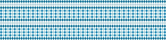 Bandera rústica para el modelo blanco de Oktoberfest y azul tradicional del Rhombus Bandera del vector ilustración del vector