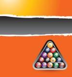 Bandera rasgada anaranjada de las bolas de billar Imagenes de archivo