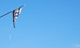 Bandera rasgada de Israel Imagen de archivo libre de regalías