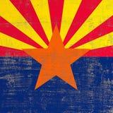 Bandera rasguñada de Arizona stock de ilustración