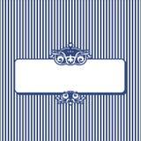 Bandera rayada retra para su texto Imagen de archivo libre de regalías