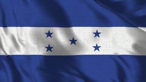 Bandera realista de los fps 4K 30 de la Honduras que agita en el viento Lazo inconsútil con textura altamente detallada de la tel libre illustration