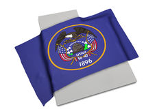 Bandera realista que cubre la forma de Utah (series) Imágenes de archivo libres de regalías