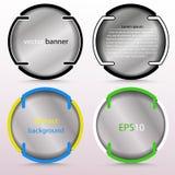 Bandera redonda abstracta con los soportes transparentes - para el fondo, sistema en diversos diseños Fotos de archivo libres de regalías