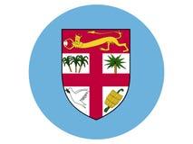 Bandera redonda de Fiji ilustración del vector