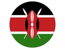 Bandera redonda de Kenia libre illustration