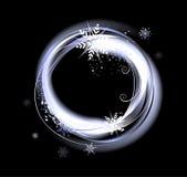 Bandera redonda de la nieve Fotos de archivo libres de regalías