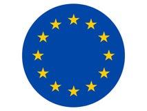 Bandera redonda de la UE stock de ilustración
