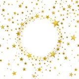 Bandera redonda de las estrellas del oro ilustración del vector