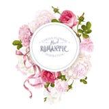 Bandera redonda del jardín romántico libre illustration