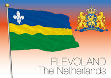 Bandera regional de Flevolanda, Países Bajos, unión europea ilustración del vector