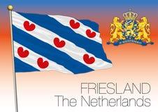 Bandera regional de Frisia, Países Bajos, unión europea libre illustration