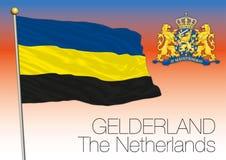 Bandera regional de Güeldres, Países Bajos, unión europea libre illustration