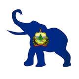 Bandera republicana del elefante de Vermont Foto de archivo
