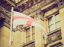 Bandera retra de Inglaterra de la mirada Imágenes de archivo libres de regalías