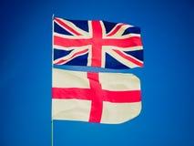 Bandera retra de Reino Unido de la mirada Foto de archivo