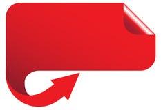 Bandera roja ilustración del vector