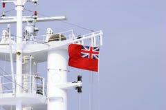 Bandera roja Foto de archivo libre de regalías