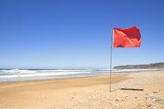 Bandera roja Foto de archivo