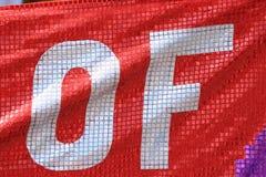 Bandera roja fotografía de archivo libre de regalías