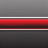 Bandera roja abstracta en vector moderno del fondo del metal del círculo de la textura del diseño gris del modelo Fotografía de archivo libre de regalías